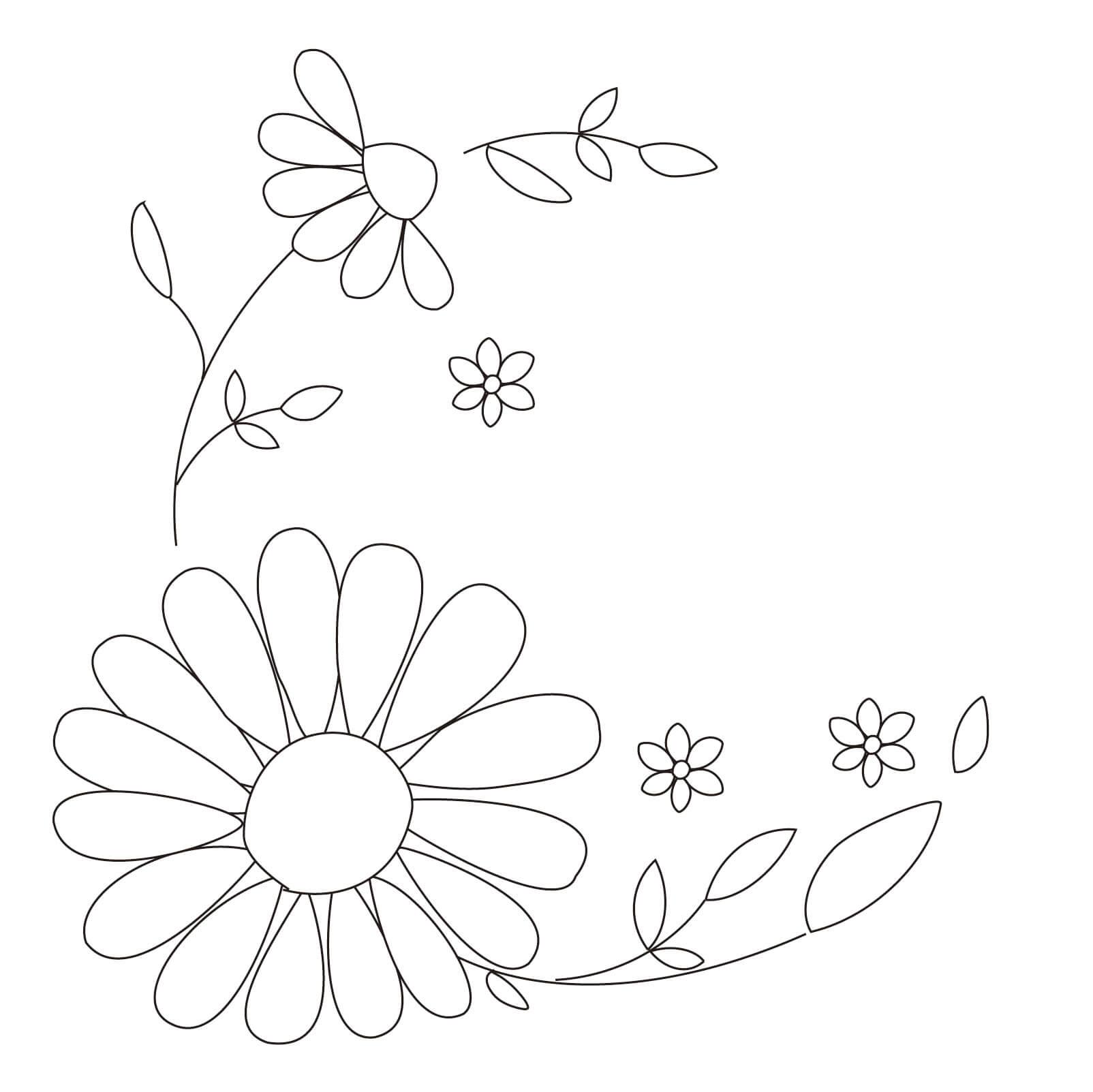 カモミール:刺繍の下絵